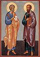 Образ свв. первоверх. апп. Петра и Павла
