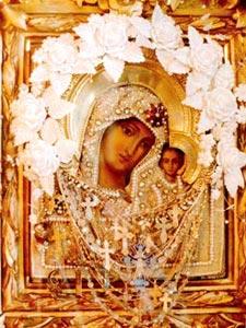 Чтимый список Казанской иконы Божией Матери хранящийся в Никольском соборе