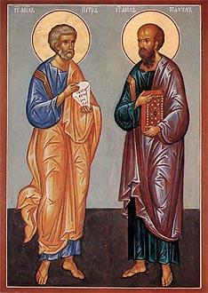 Образ свв. первоверховных апп. Петра и Павла.