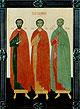 Образ свв. мчч. Петра, Стефана и Иоанна Казанских