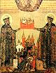 Образ мчч. блгв. кнн. Бориса и Глеба, во Св. Крещении Романа и Давида